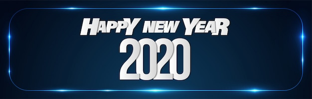 Happy new year 2020 promotion sales banner background