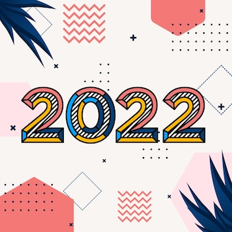 Happy new year 2020 retro style for holiday calendar