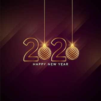 Happy new year 2020 stylish greeting card