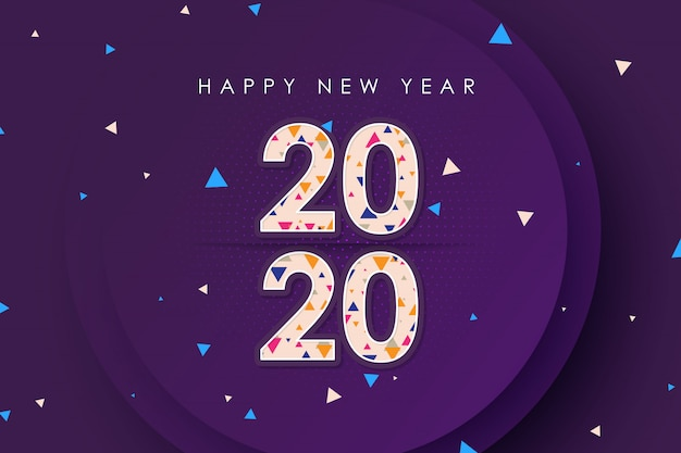 Happy new year 2020 stylist vector