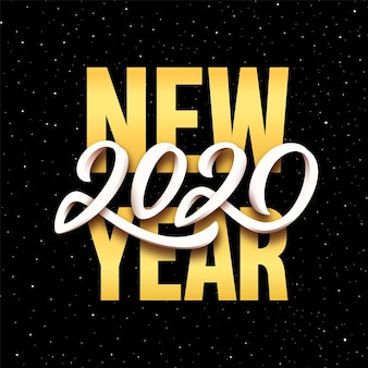 Happy new year 2020 vector greeting card design