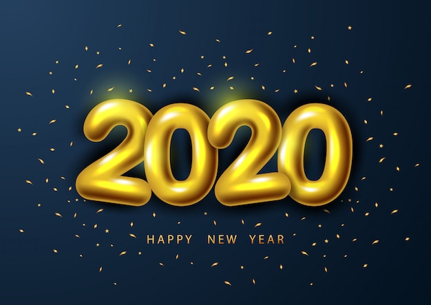 Happy new year 2020, with realistic golden number 2020.