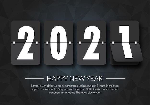 Happy new year 2021. 2021 greetings card. abstract background.2021 background banner.