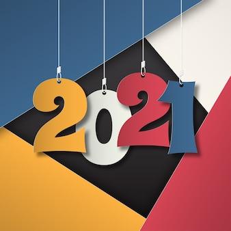 明けましておめでとうございます2021年。2021年グリーティングカード。抽象的なbackground.2021背景バナー。