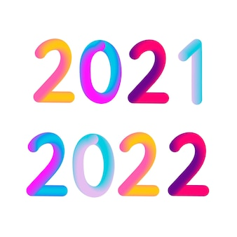 Happy new year 2021 2022 3d modern design
