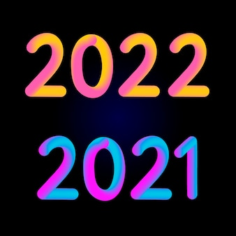 Happy new year 2021 2022 design 3d modern design for calendar, invitations, greeting cards, holidays flyers or prints.