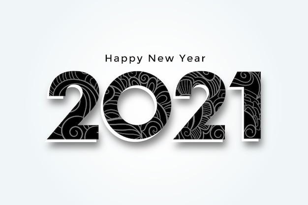 Happy new year 2021 3d style background design