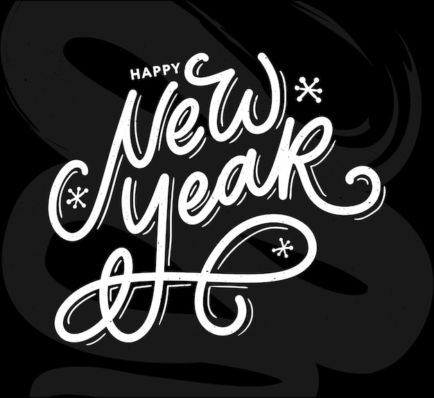 Happy new year 2021 beautiful greeting card poster with calligraphy black text word gold fireworks