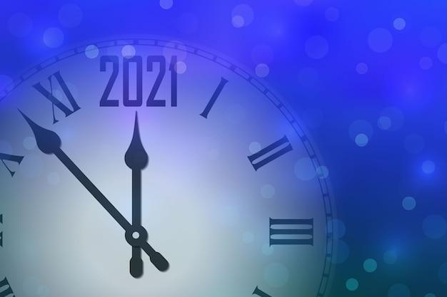 С новым 2021 годом празднуем баннер с часами