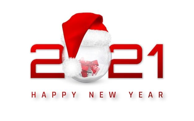 С новым 2021 годом обложка со снежком в новогодней шапке.
