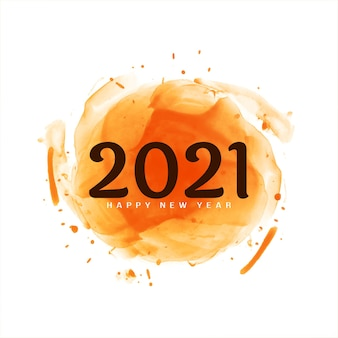Happy new year 2021 greeting modern
