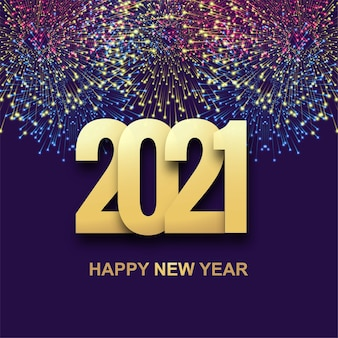 Happy new year 2021  holiday celebration  background