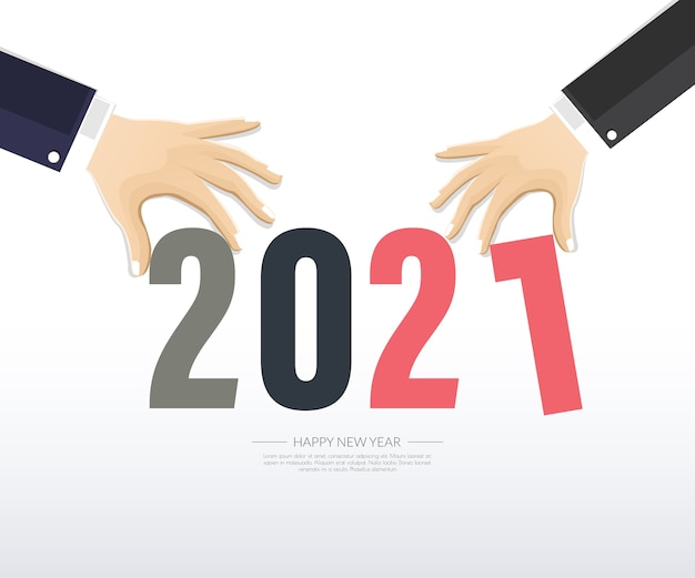 С новым годом 2021 иллюстрация