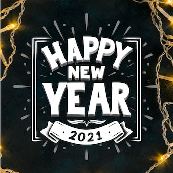 Happy new year 2021 - lettering