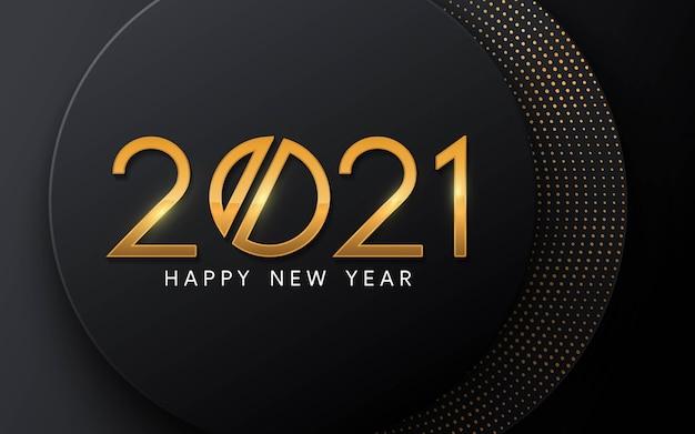 Happy new year 2021   luxury text