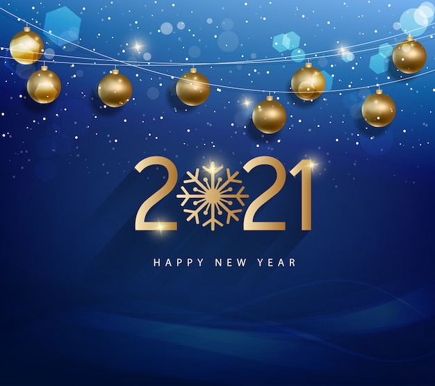 Merry Christmas Or Happy New 2021 Year Illustration With