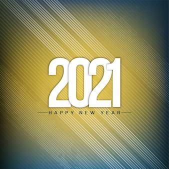 Felice anno nuovo 2021 moderno saluto