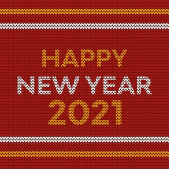 Happy new year 2021 neon topography knitted design