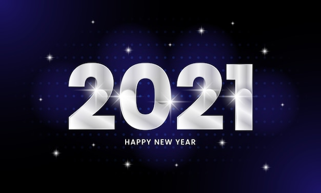 Happy new year 2021 poster