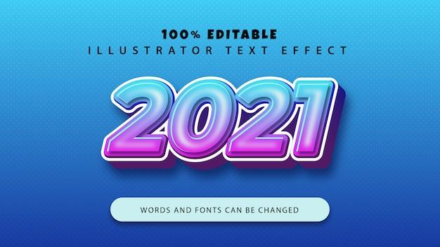 새해 복 많이 받으세요 2021 텍스트 스타일 효과, 편집 가능한 텍스트