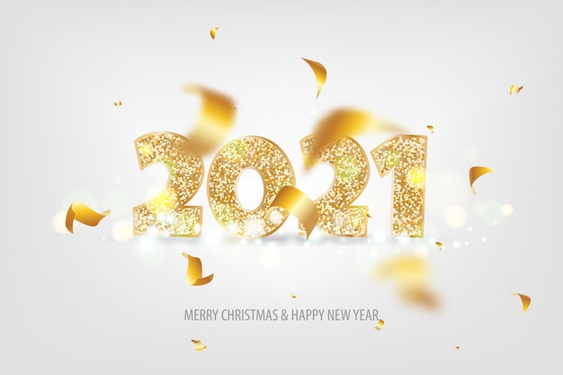 Happy new year 2021 tradicional lettering text