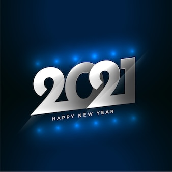 Happy new year 2021 wishes card with light effect