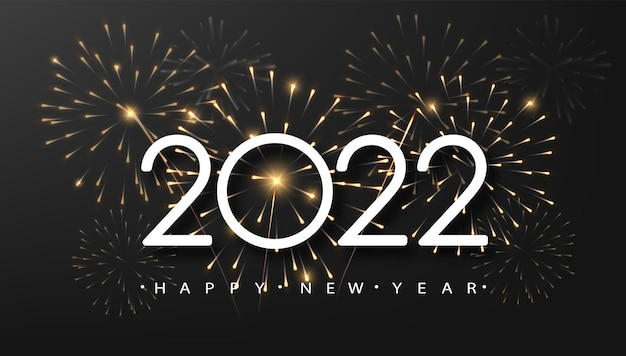 Happy new year 2021 with sparkle fireworks on dark background, . concept for holiday decor, card, poster, banner, flyer.