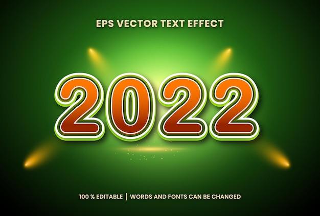 새해 복 많이 받으세요 2022 배경에 3d 편집 가능한 텍스트 효과