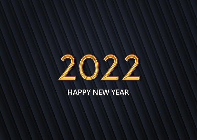 Happy new year 2022 on the abstract background vector
