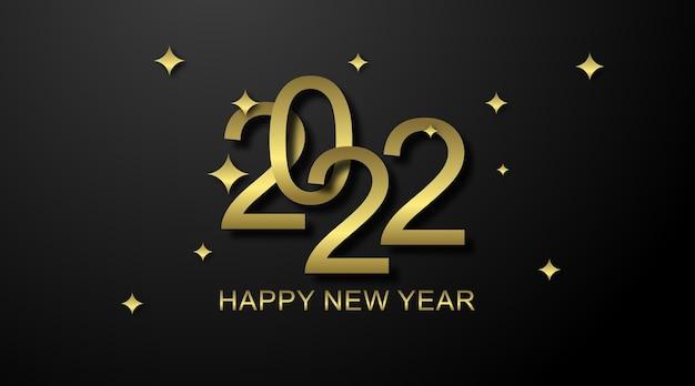С новым годом 2022 фоновой иллюстрации. с новым годом веб-баннер и флаер