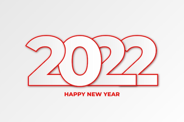 Happy new year 2022 background with flat desing