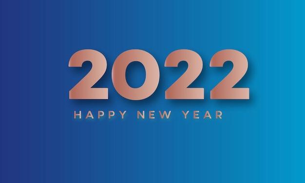 Happy new year 2022 bokeh slide blue background celebration