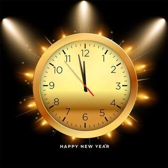 Happy new year 2022 bokeh slide golden and black background celebration
