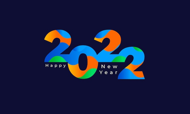 Happy new year 2022 calendar header background template