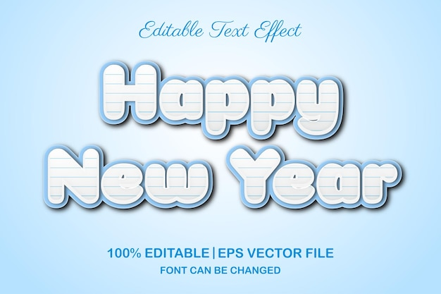 С новым годом 2022 редактируемый текстовый эффект в 3d стиле