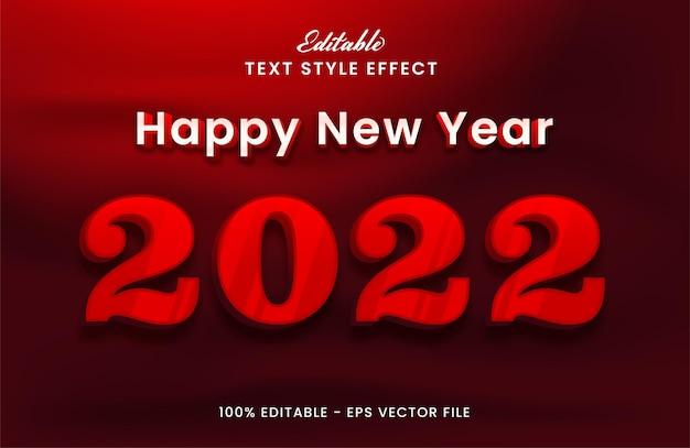 С новым годом 2022 редактируемый текстовый эффект premium векторы