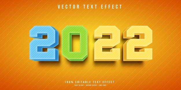 С новым годом 2022 редактируемый текстовый эффект