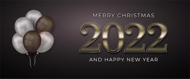 Happy new year 2022 editable text number with pattern luxury design