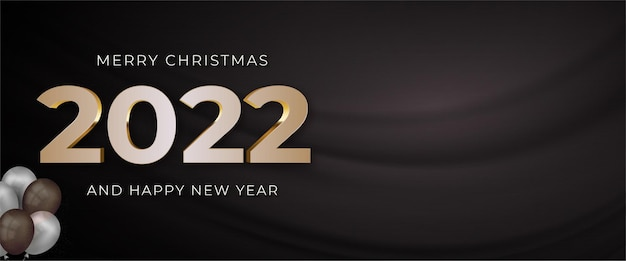 Happy new year 2022 editable text number with text space