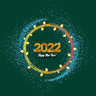 Happy new year 2022 gold collor text