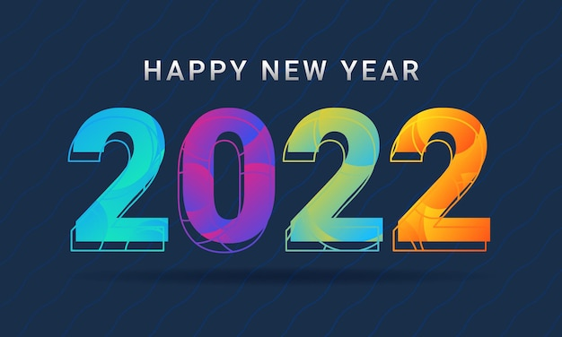 Happy new year 2022 greeting card background