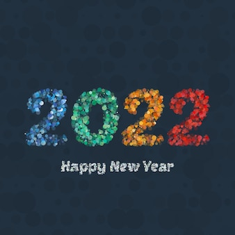 Happy new year 2022 holiday greeting card