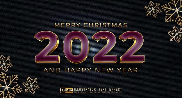 Happy new year 2022 luxury design of numbers on dark elegant background