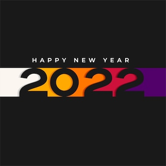 Happy new year 2022 poster vector