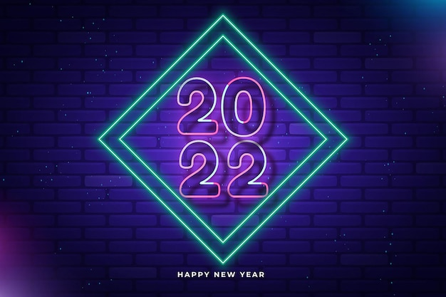 Happy new year 2022 simple modern 3d light background celebration