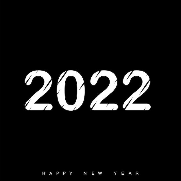 Happy new year 2022 text design. brochure template design, postcard, banner. vector