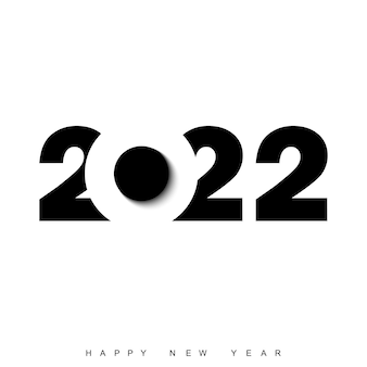Happy new year 2022 text design. brochure template design, postcard, banner. vector.