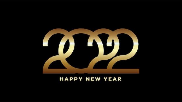 새해 복 많이 받으세요 2022 텍스트입니다. 황금 2022 숫자 벡터 인사말, 초대장, 배너 또는 배경에 적합한 디자인 그림입니다.