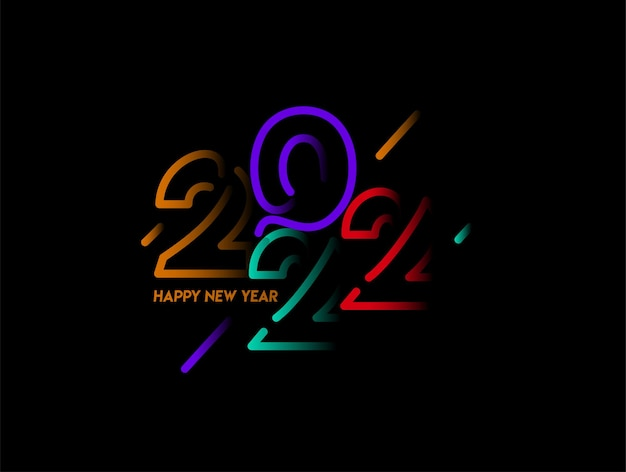 Happy new year 2022 text typography design patter vector illustration