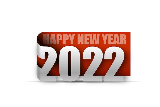 Happy new year 2022 text typography design patter, vector illustration.